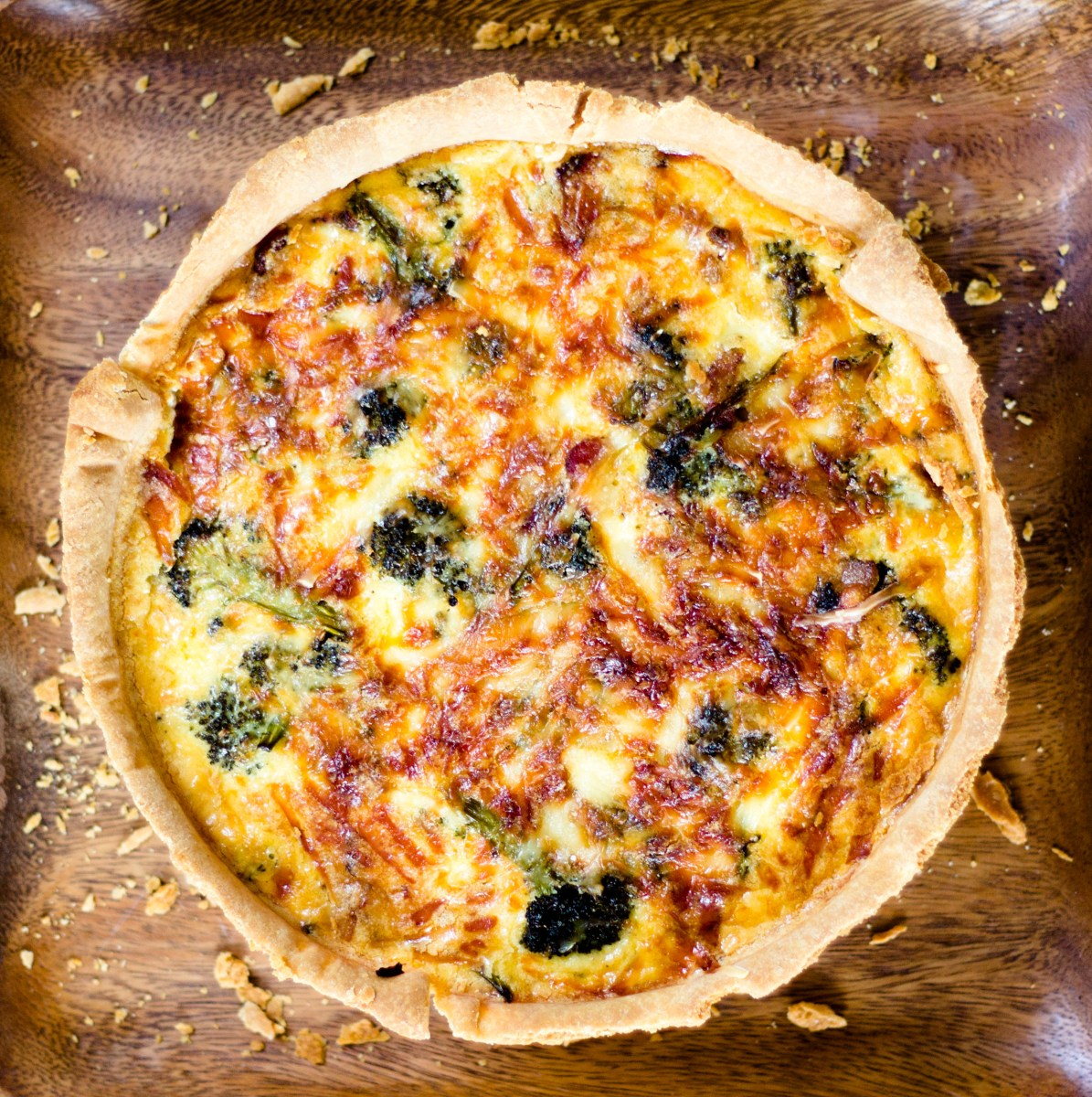 Deep Dish Broccoli Bacon Quiche